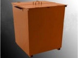 Контейнер металлический для мусора (колеса+крышка)